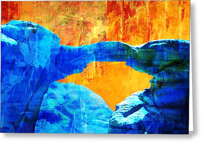 Essaouira Greeting Cards - Wadi Rum Natural Arch 2 Greeting Card by Catf