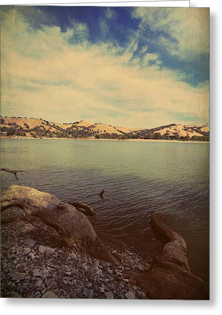 Lakes Digital Greeting Cards - Wading into the Cold Water Greeting Card by Laurie Search