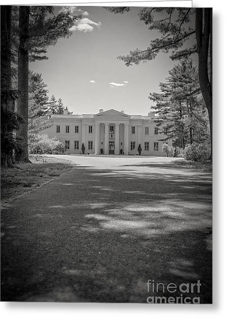 Empty Pool Greeting Cards - Wadsworth Mansion at Long Hill Middletown Connecticut Greeting Card by Edward Fielding