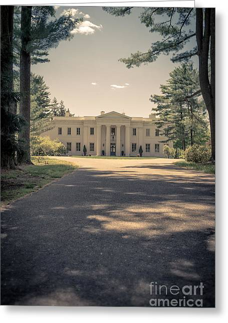 Building. Home Greeting Cards - Wadsworth Mansion Middletown Connecticut Greeting Card by Edward Fielding