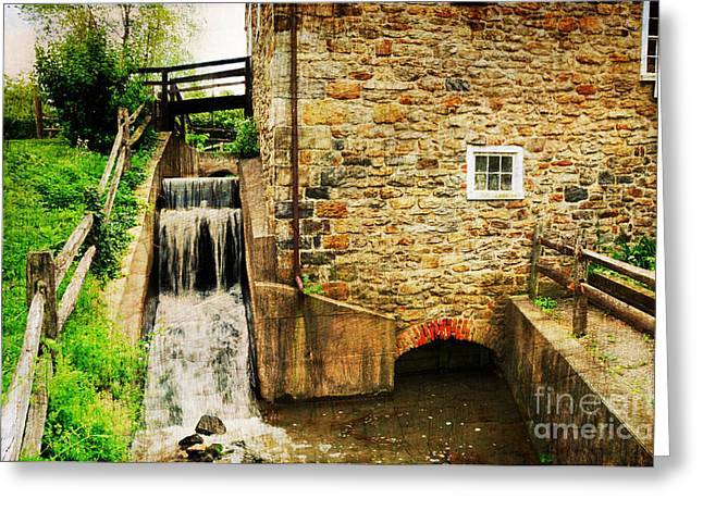 Mayberry Greeting Cards - Wagner Grist Mill Greeting Card by Paul Ward