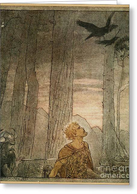 North Shore Drawings Greeting Cards - Wagners Ring Cycle Greeting Card by Arthur Rackham