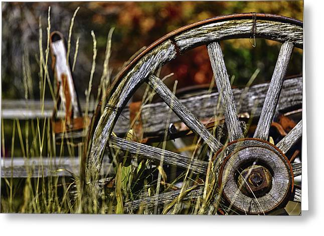 Depth Of Field Greeting Cards - Wagon Down Greeting Card by Scott Campbell