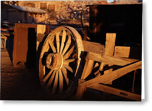 Yermo Greeting Cards - Wagon Wheel - Calico Greeting Card by Michael Hope