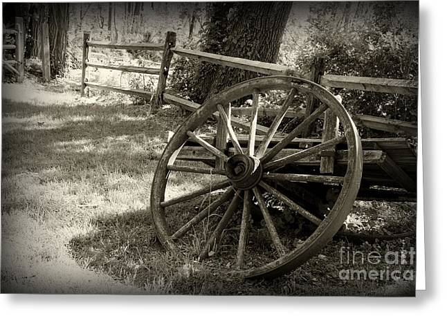Wagon Wheel  Greeting Card by Paul Ward