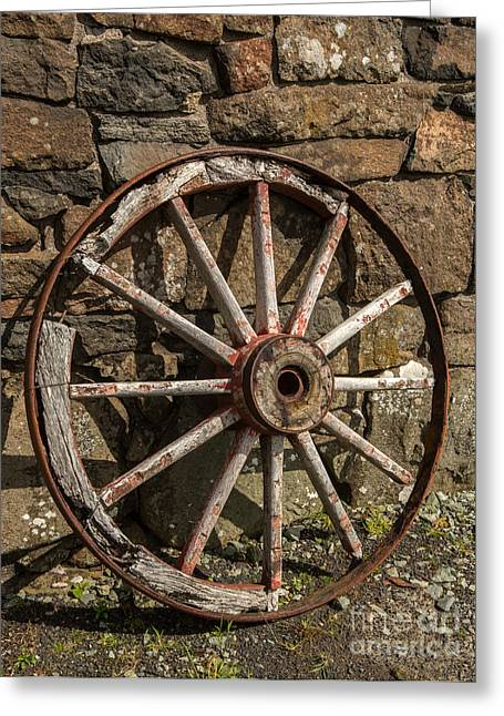 Commercial Photography Greeting Cards - Wagon Wheel Skye Greeting Card by Iris Richardson