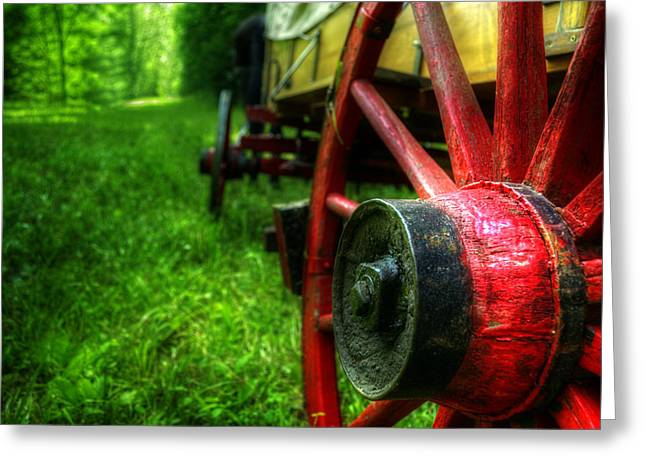 Historic Schooner Greeting Cards - Wagon Wheels Greeting Card by Greg and Chrystal Mimbs