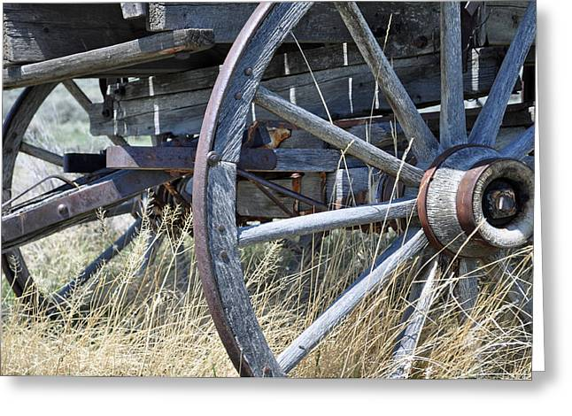 Gold Trout Greeting Cards - Wagon Wheels Nevada City Greeting Card by Bruce Gourley