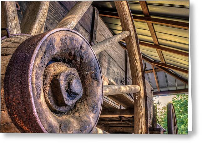 Historic Country Store Digital Art Greeting Cards - Wagon Wheels Greeting Card by Rob Sellers