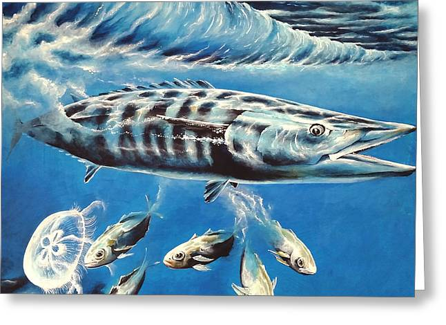 Wahoo Greeting Cards - Wahoo Bullet Greeting Card by Greg  Lowman