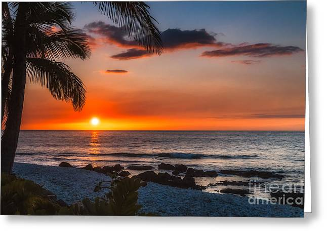 Waikoloa Sunset 1 Greeting Card by Al Andersen
