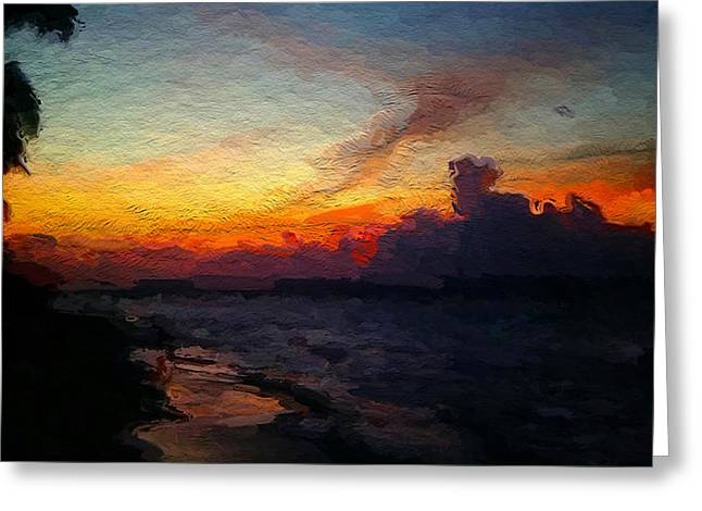 Hawaii Greeting Cards - Wailed Sunset  Maui Greeting Card by Anthony Fishburne