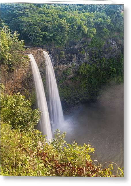 Fall River Scenes Greeting Cards - Wailua Falls - Kauai Hawaii Greeting Card by Brian Harig