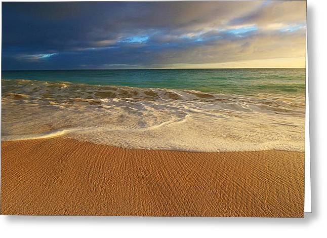 Famous Ocean Photographers Greeting Cards - Waimanalo Sunrise Greeting Card by Richard Cheski