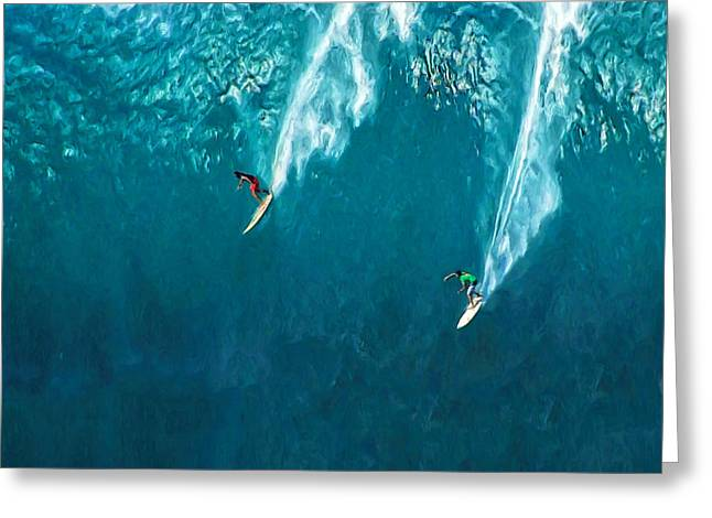 Lahaina Greeting Cards - Waimea Bay Giant Greeting Card by Dominic Piperata