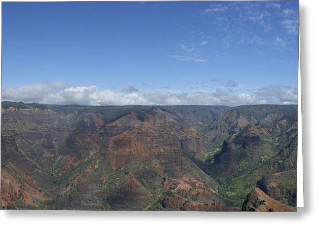 Waimea Falls Greeting Cards - Waimea Canyon Greeting Card by Brian Kamprath