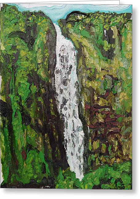 Demaree Greeting Cards - Waimoku Falls Greeting Card by Joseph Demaree