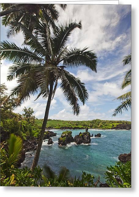 ; Maui Greeting Cards - Wainapanapa Greeting Card by James Roemmling