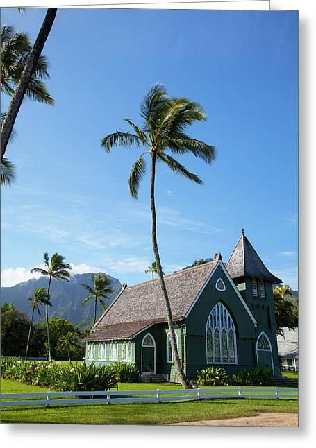 Waioli Church 1912, Hanalei, Kauai Greeting Card by Douglas Peebles