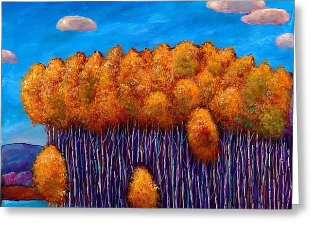 Birch Trees Greeting Cards - Wait and See Greeting Card by Johnathan Harris