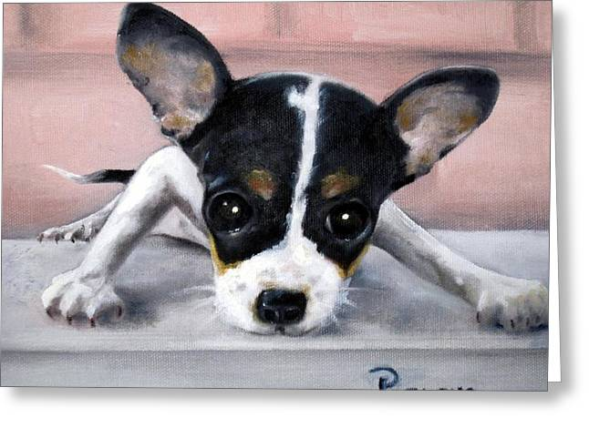 Puppy Greeting Cards - Wait for Me Greeting Card by Beverly Pegasus