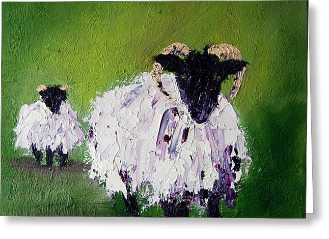 Wool Greeting Cards - Wait for me Greeting Card by Lynda Cookson