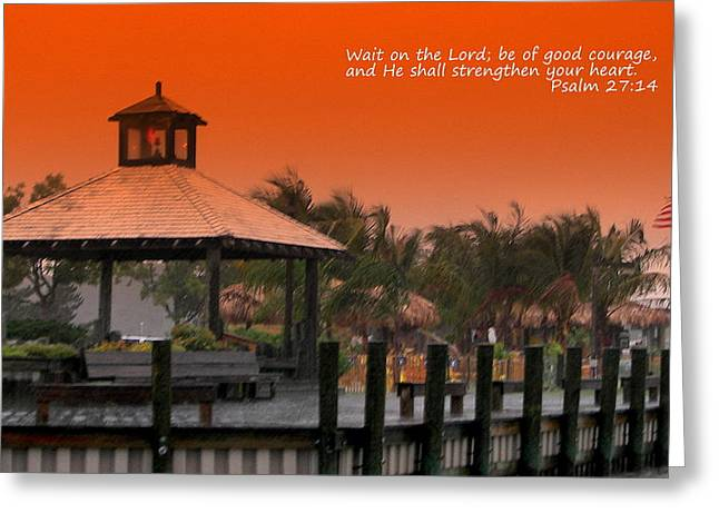 Strengthen Photographs Greeting Cards - Wait On The Lord Greeting Card by Pamela Hyde Wilson