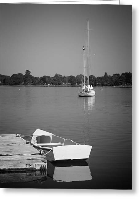 Row Boat Greeting Cards - Waitin on the wind Greeting Card by Bill  Wakeley