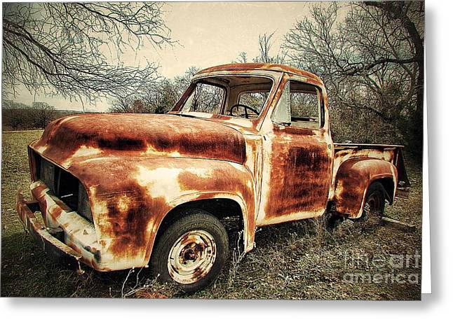 Old Trucks Greeting Cards - Waiting... Greeting Card by AK Photography