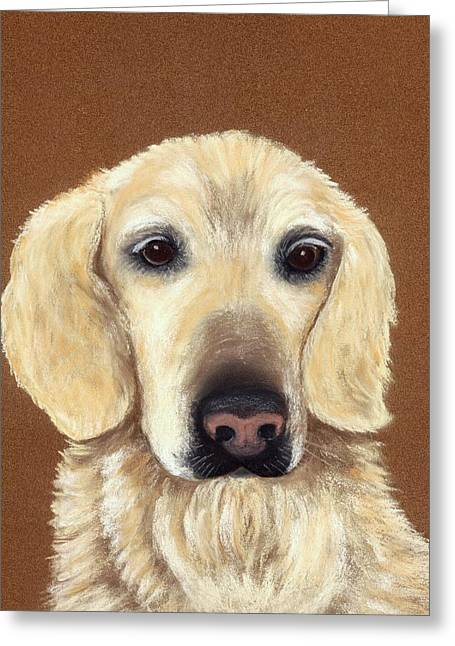 Puppies Pastels Greeting Cards - Waiting Greeting Card by Anastasiya Malakhova