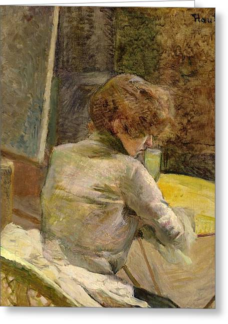 Waiting Greeting Cards - Waiting at Grenelle Greeting Card by Henri de Toulouse-Lautrec