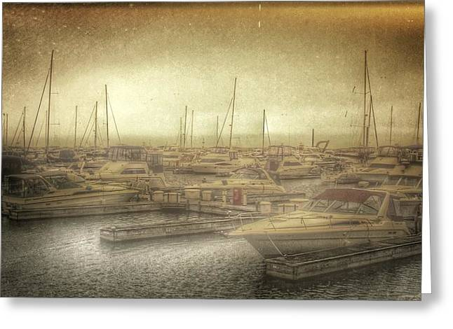 Diane Reed Greeting Cards - Waiting at the Dock Greeting Card by Diane Reed