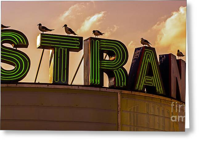 Theater Greeting Cards - Waiting At The Strand Greeting Card by Tom Gari Gallery-Three-Photography