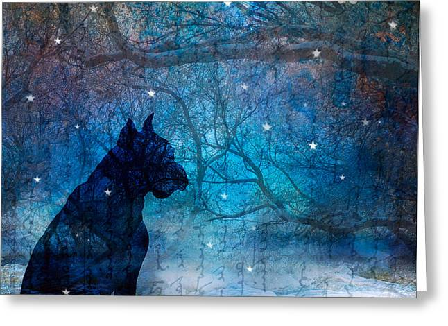 Waiting by the Night River Greeting Card by Judy Wood