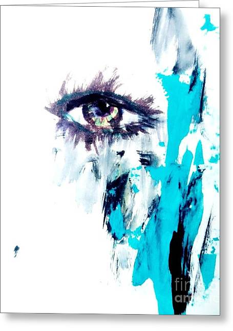 Waiting Eye Greeting Card by Trilby Cole