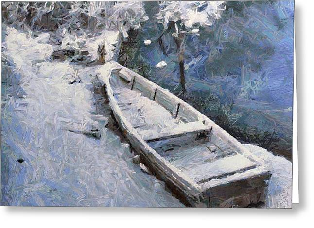Bohinj Lake Greeting Cards - Waiting for a spring Greeting Card by Dragica  Micki Fortuna
