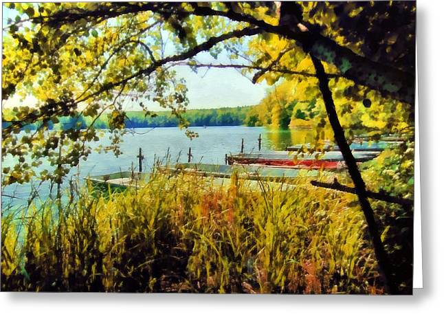Camille Pissarro Digital Greeting Cards - Waiting for Boatmen Greeting Card by Marina Kaehne