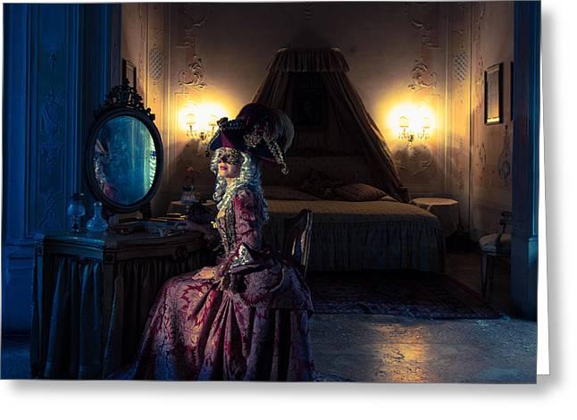 Royal Art Greeting Cards - Waiting for Casanova Greeting Card by Zina Zinchik