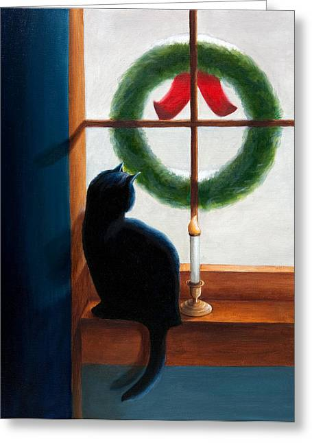 Waiting For Christmas Greeting Card by Phillip Compton