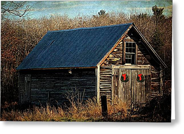 Shed Digital Art Greeting Cards - Waiting For Christmas Greeting Card by Tricia Marchlik
