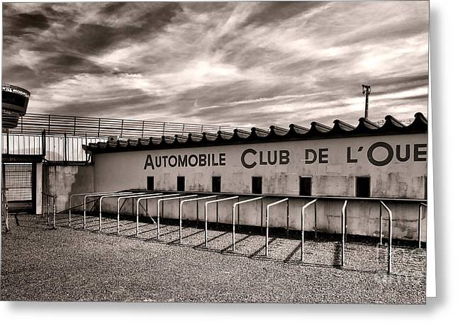 Twenty-four Greeting Cards - Waiting for Le Mans Greeting Card by Olivier Le Queinec