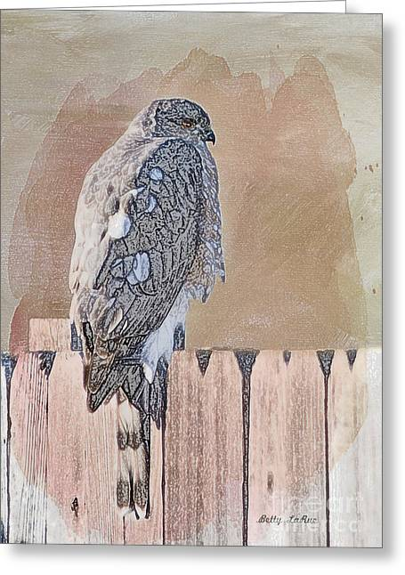 Waiting For Mr. Goodbird Greeting Card by Betty LaRue