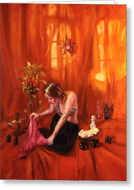 Gallerysati Greeting Cards - Waiting for my Husband Greeting Card by Shelley  Irish