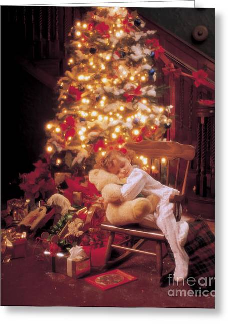 Xmas Tree Greeting Cards - Waiting for Santa Greeting Card by Jon Neidert