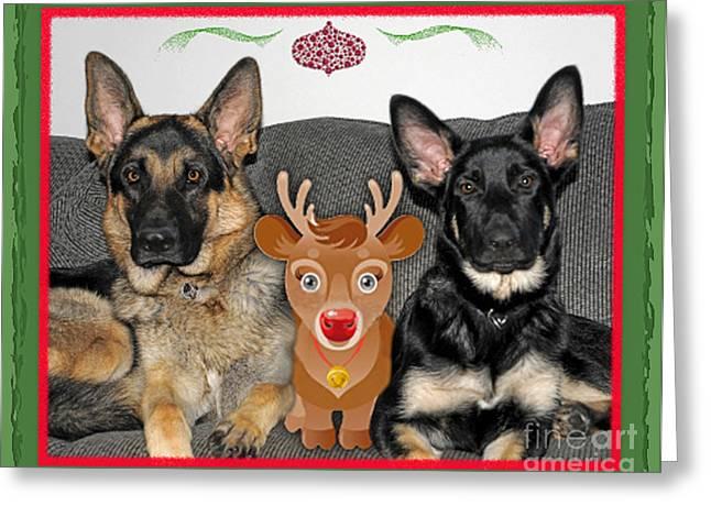 Rudolph Digital Art Greeting Cards - Waiting for Santa Greeting Card by Linda Seacord