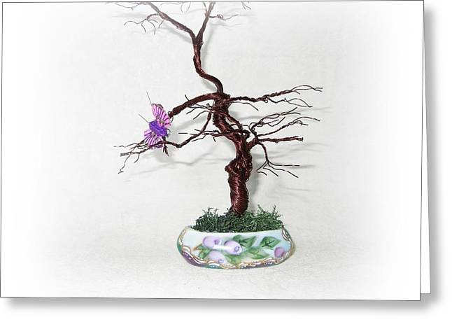 Silver Sculptures Greeting Cards - Waiting for Spring Greeting Card by Joyce  McCormick-Mabry