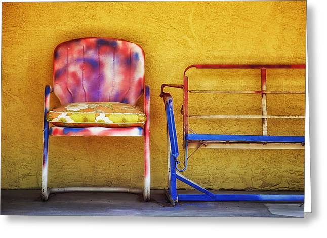 Lawn Chair Greeting Cards - Waiting for Spring Greeting Card by Nikolyn McDonald
