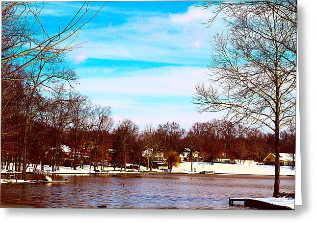 Snow-covered Landscape Digital Art Greeting Cards - Waiting for Spring - Scenic Winter Landscape Greeting Card by Barry Jones