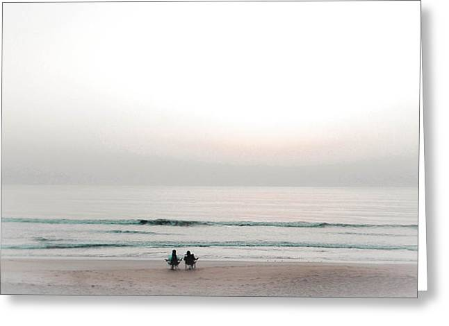 Pleasure Pair Greeting Cards - Waiting for Sunrise Greeting Card by Christy Usilton