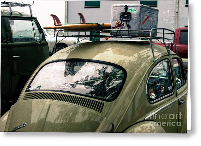 Vw Beetle Greeting Cards - Beetle Surf   Greeting Card by Steven  Digman